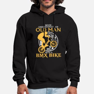 Old Man Old Man With A BMX BIKE - Men's Hoodie