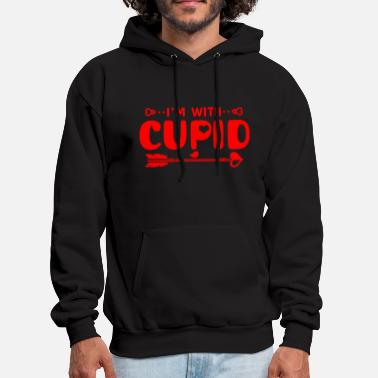 Cupid - valentines day i'm with cupid for your - Men's Hoodie