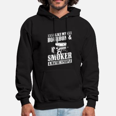 Whiskey Best Dad BBQ Smoker Grill Lover Bourbon Whiskey - Men's Hoodie