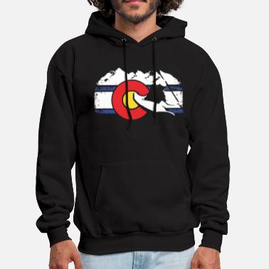 Whitewater Colorado Flag Whitewater Kayak Colorado - Men's Hoodie
