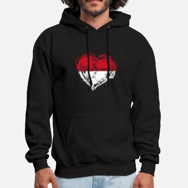Indonesia HOME ROOTS COUNTRY GIFT LOVE Indonesia - Men's Hoodie
