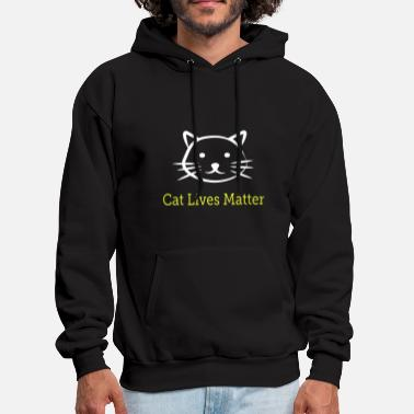 Ugly Christmas cat live matter cat t shirts - Men's Hoodie