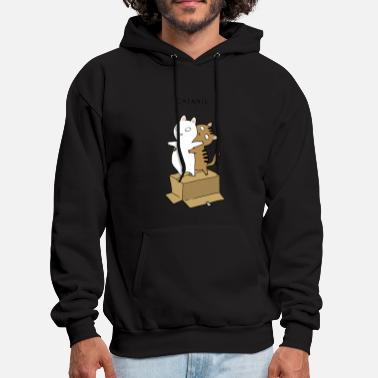 Ugly Christmas catanic cats - Men's Hoodie
