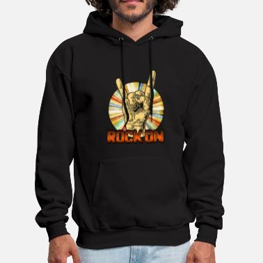 Rock N Roll Rock on - Men's Hoodie