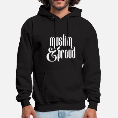 muslim and pround computer t shirts - Men's Hoodie