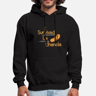 Latino I Survived La Chancla Funny Humor Mexican Moms Lat - Men's Hoodie