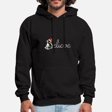 believe black and white shirt christmas - Men's Hoodie