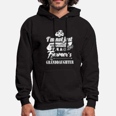 i am nor just grandpa s little girl i am a framer - Men's Hoodie