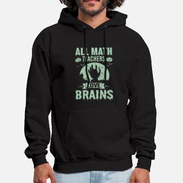 all math teacher love brains pumkins stan december - Men's Hoodie