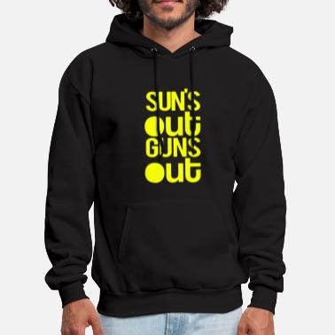 SUN S OUT GUNS Out Tank Racerback Workout Clothing - Men's Hoodie
