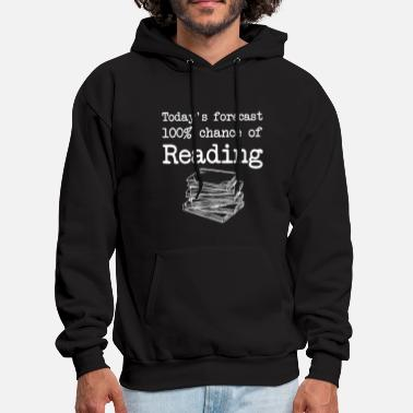 today is forecast 100 chance of reading nerd math - Men's Hoodie