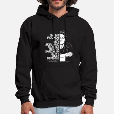 Only I'm 147 pounds of pale skin and fragile bones sarc - Men's Hoodie