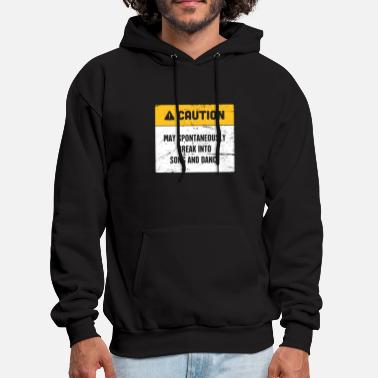 Theater Caution | Funny Broadway Musical Theater - Men's Hoodie