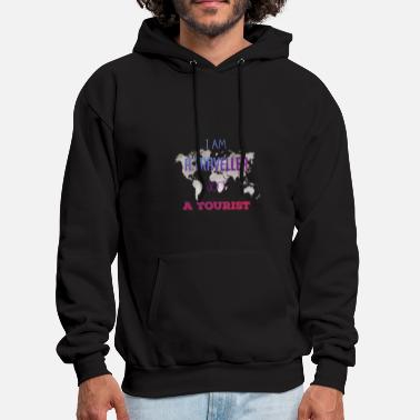 Tourist I am a traveller not a tourist - Men's Hoodie
