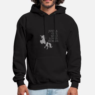 Just A Girl Who Loves Horses - Men's Hoodie