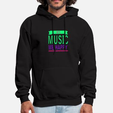 80s Music me happy - Men's Hoodie