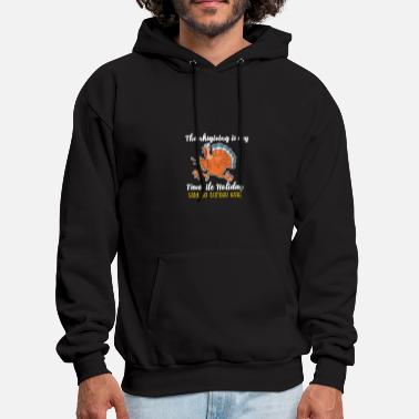 Thanksgiving Funny thanksgiving turkey tshirt - Men's Hoodie