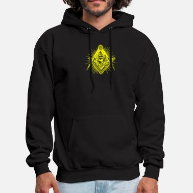 Geek &amp Square amp Compass Symbol - Men's Hoodie