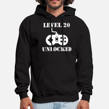 Unlocked Level 20 Unlocked Video Games 20th Birthday - Men's Hoodie