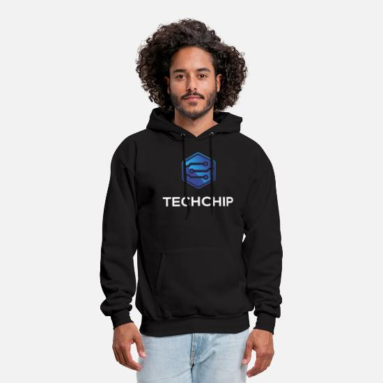 Birthday Hoodies & Sweatshirts - Tech Chip - Men's Hoodie black