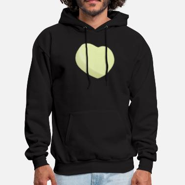 Sweetheart Yellow Candy Heart - ADD YOUR OWN CUSTOM TEXT - Men's Hoodie