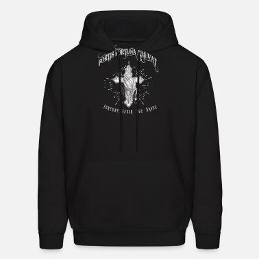 Fortis Fortuna Adiuvat - Cross and Hand Tattoo Men\'s T-Shirt ...