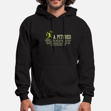 Pitcher a pitcher baseball t shirts - Men's Hoodie