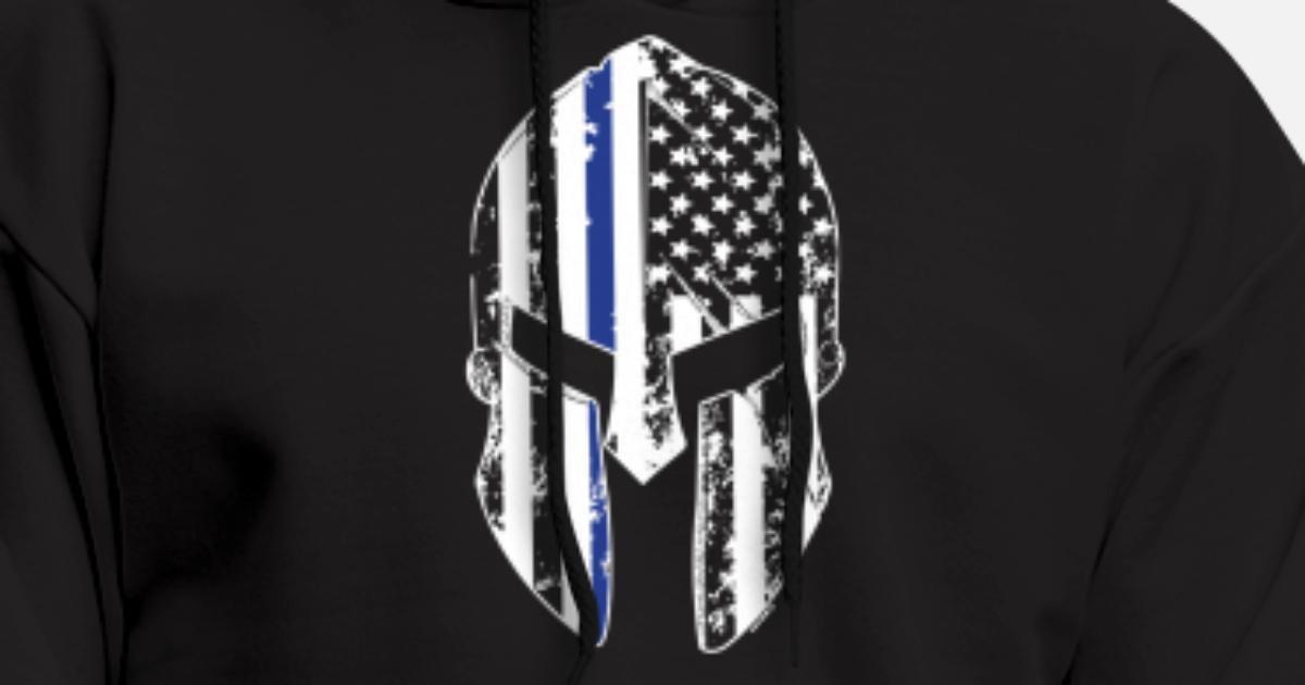 Hoodies & Sweatshirts Spartan Warrior Helmet Distressed Look Customized Black Graphic Hoodie