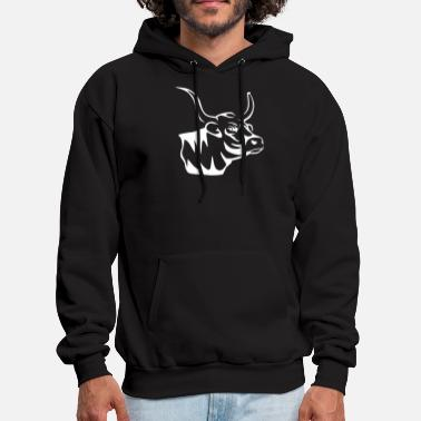 Rancher Cow Cattle Country Rancher - Men's Hoodie