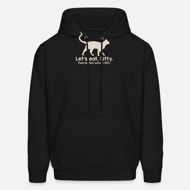 Let's eat kity punctuation saves cats Men's Ringer T-Shirt ...