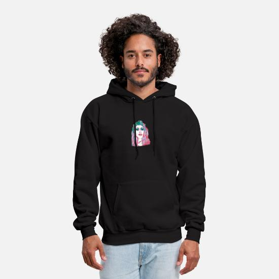 Face Hoodies & Sweatshirts - neon shezzy - Men's Hoodie black