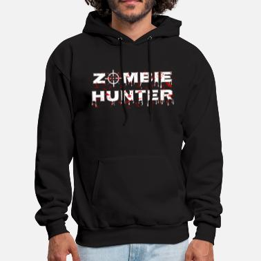 Zombie Hunter - Horror Infects Undead Blood Stain - Men's Hoodie