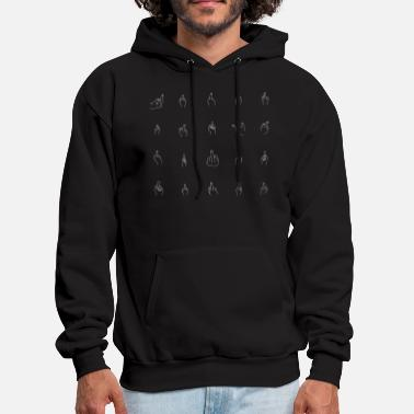 Middle White Middle Fingers - Men's Hoodie