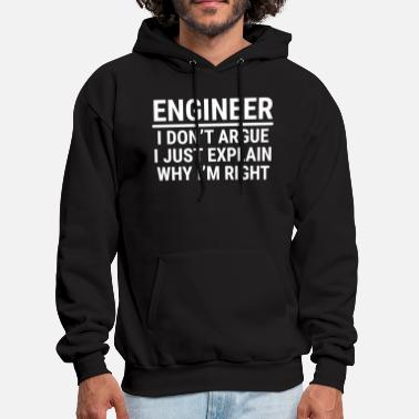 Engineer Funny Engineer I Don't Argue Sarcasm T-shirt - Men's Hoodie