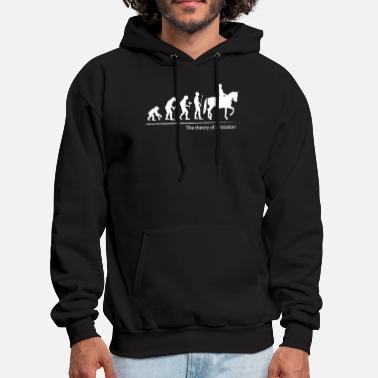 The theory of evolution (horse riding) - Men's Hoodie