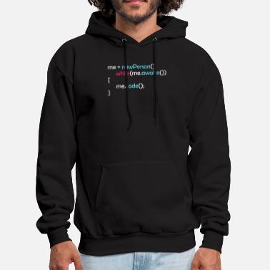 Developer While awake I code funny motivational quote gift - Men's Hoodie