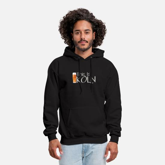 Cologne Hoodies & Sweatshirts - Cologne Kölsch Beer Drinking Cologne Young Shirt - Men's Hoodie black