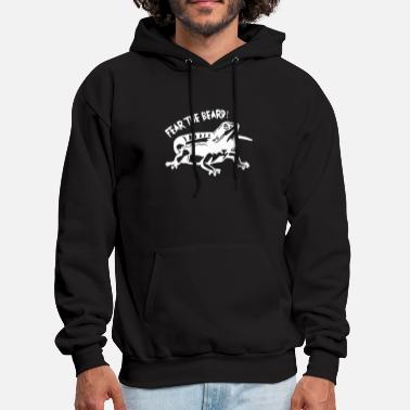 Fear The Beard Bearded Dragon Mens beard - Men's Hoodie