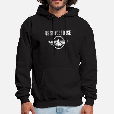us space force armed force distressed america - Men's Hoodie