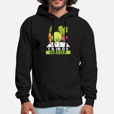 Vegetables i run on veggies carrot vegetables green not meat - Men's Hoodie