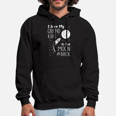 i love my grand kids to the moon back - Men's Hoodie