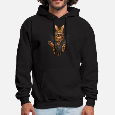 vip inspirational cat funny black youth cartoon an - Men's Hoodie