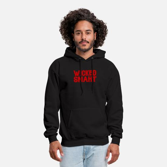 New Hoodies & Sweatshirts - Wicked Smaht Funny Smart Boston New England Gag Gi - Men's Hoodie black