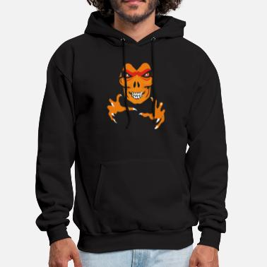 Facet &amp Halloween Scary Face - Men's Hoodie