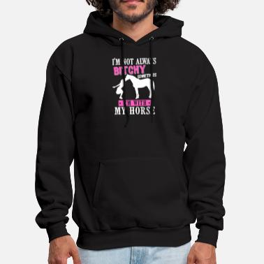 Equestrian Horse Shirt - Rider - Horse Sport - Horse bitchy - Men's Hoodie