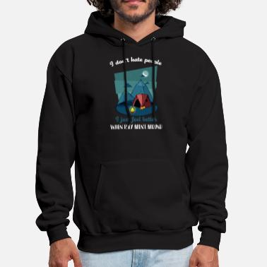 Around i don not hate people i just feel better when they - Men's Hoodie