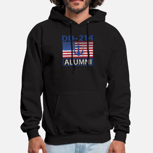 addc5844395 Navy US Flag DD 214 Alumni Gift T Shirt Men s Hoodie