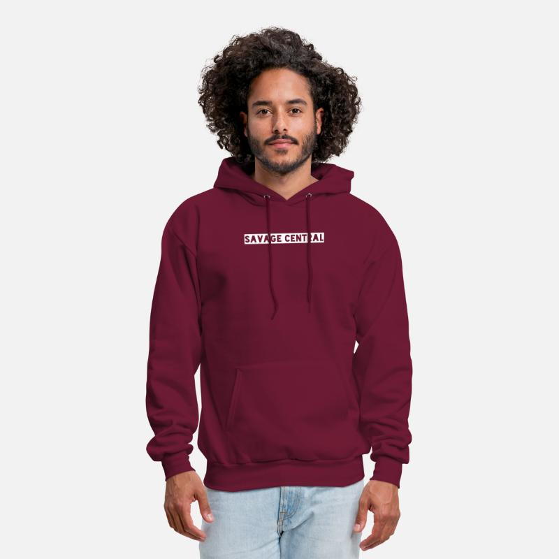 56c5aa5d Savage Central Colors Humor Graphic TeeTumblr Gift Men's Hoodie |  Spreadshirt