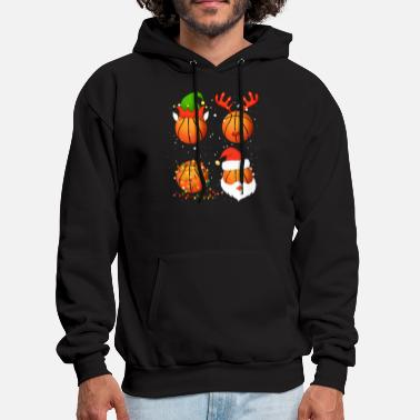 basketball snow december festival basketball - Men's Hoodie
