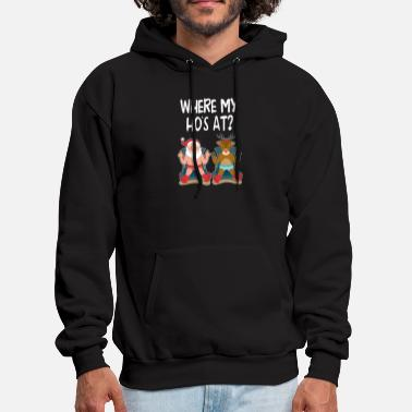 Where Are My Ho Hos at Santa claus Funny Christmas - Men's Hoodie